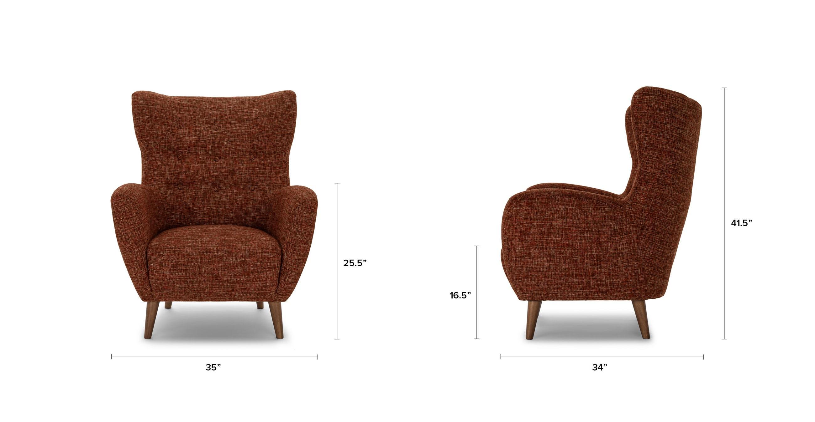 Mod Orange Spice Armchair