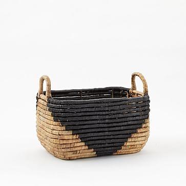 Two-Tone Seagrass Baskets, Small Recantagle, small