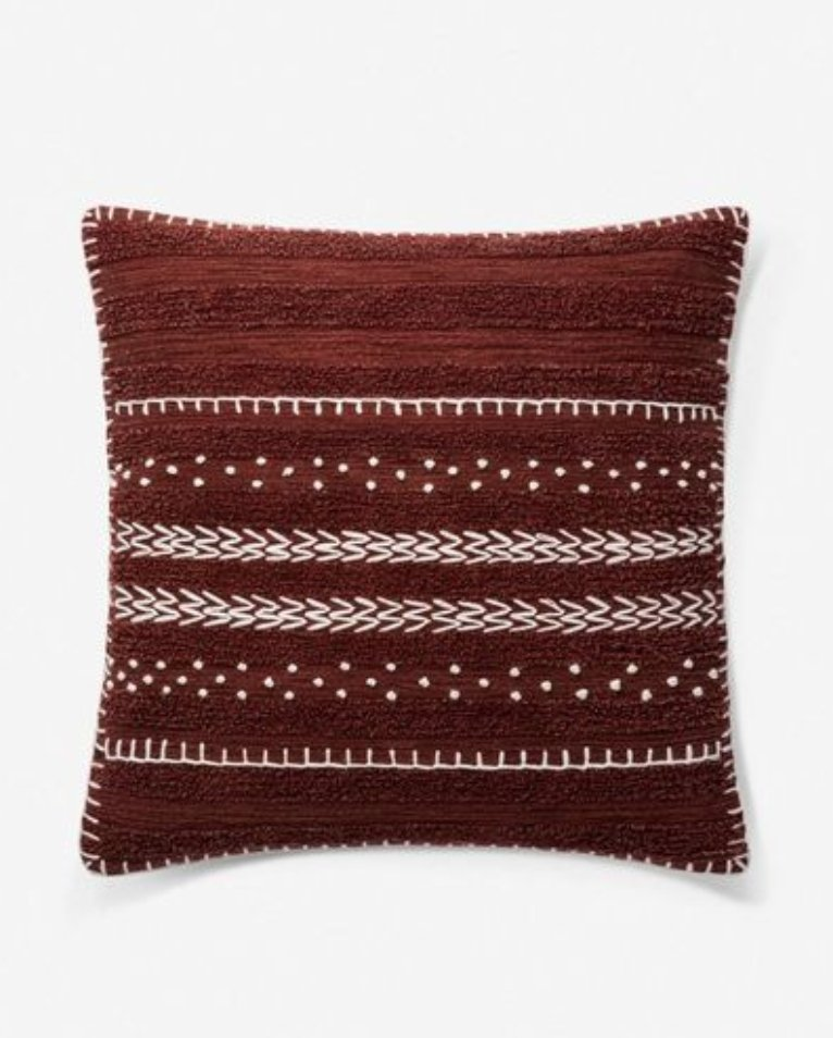 Valence Pillow, Burgundy, ED Ellen DeGeneres Crafted by Loloi