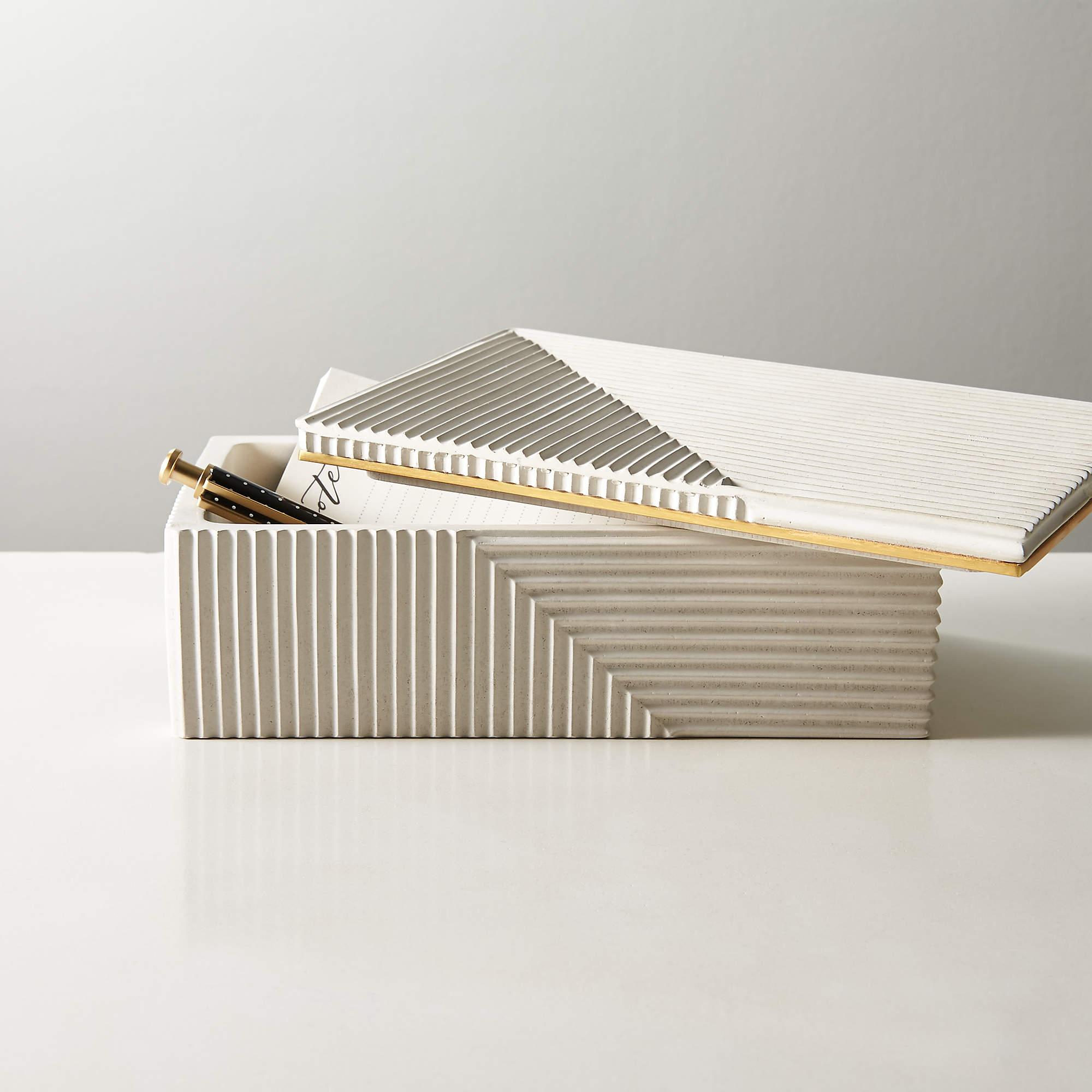 chelsea white concrete box _ small