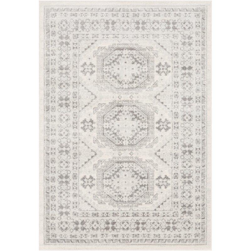 Wolbert Oriental Light Gray/Medium Gray/Khaki Area Rug