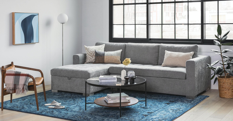 Soma Dawn Gray Left Sofa Bed
