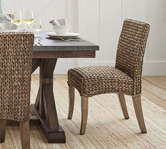 Seagrass Dining Side Chair, Gray Wash with Seadrift Leg