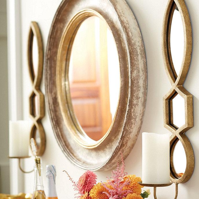 Ballard Designs Cassidy Mirror Taupe 25 Inch