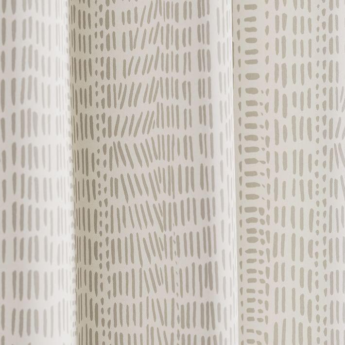 "Cotton Canvas Bomu Curtain, Set of 2, Stone Gray, 48""x108"""