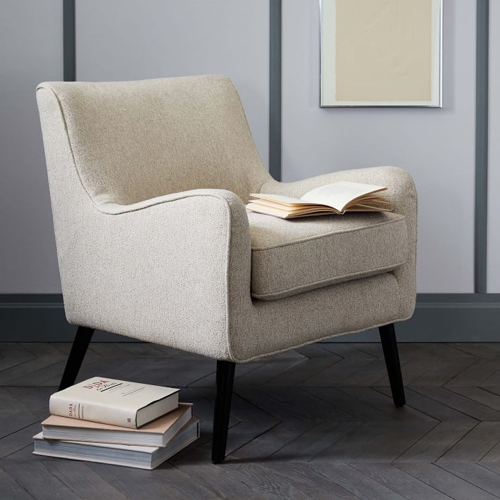 Book Nook Armchair, Boucle, Wheat-Individual