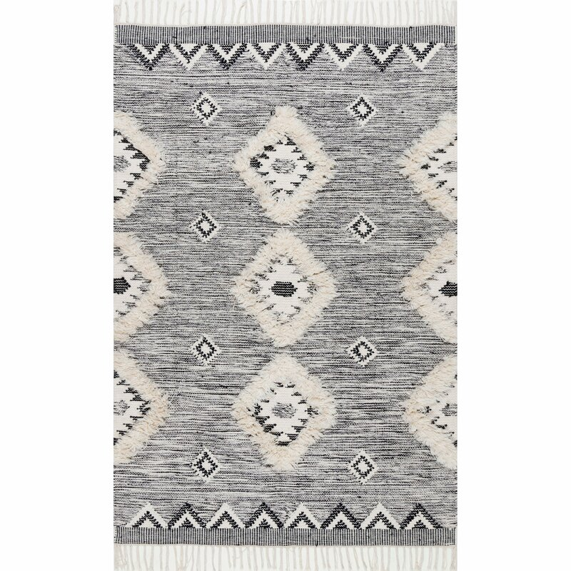 Luciana Hand-Knotted Wool Gray Area Rug