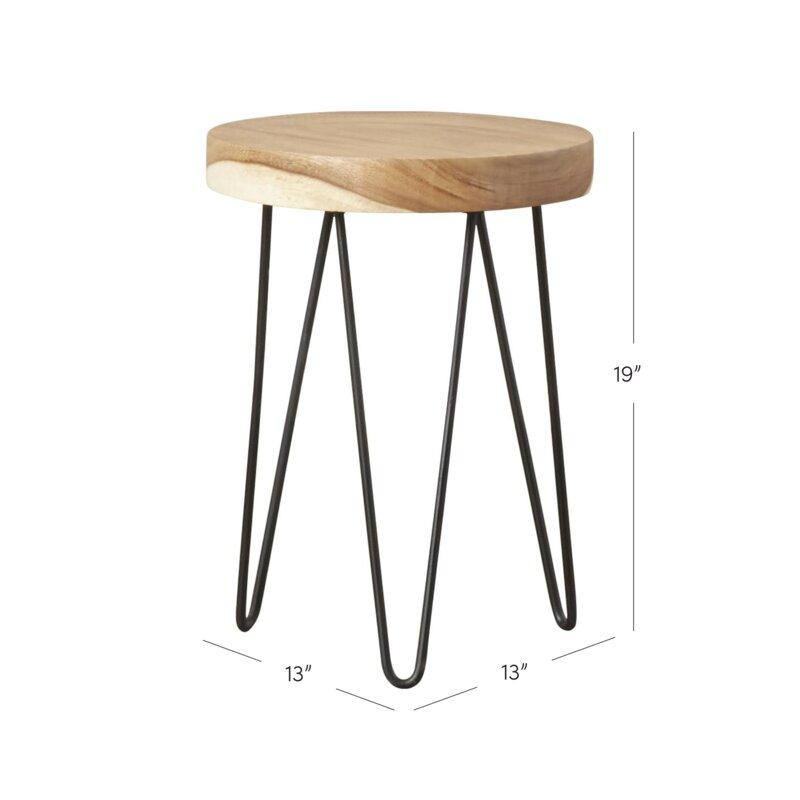 Abernethy Floor End Table