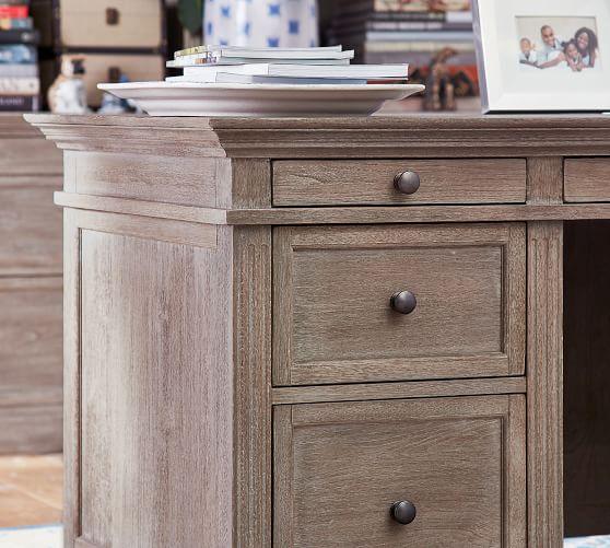 Livingston Large Desk, Gray Wash