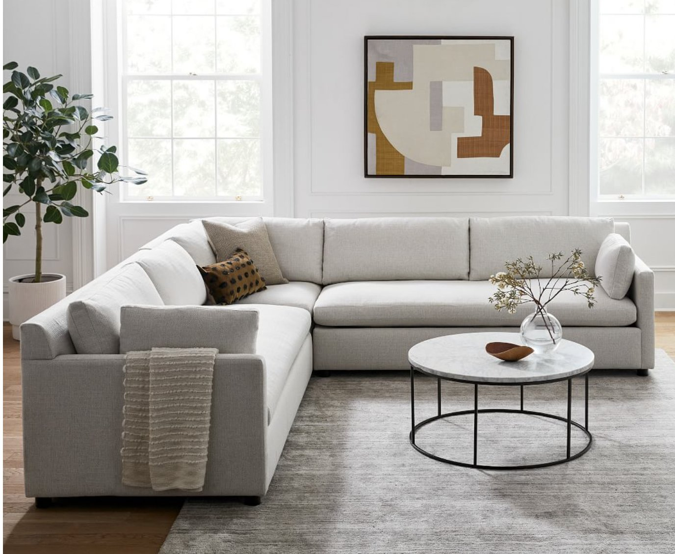Marin 3-Piece L-Shaped Sectional