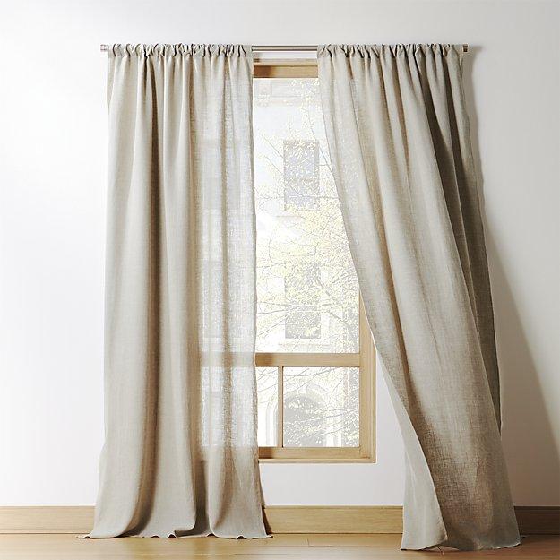 "Natural linen curtain panel 48""x96"""
