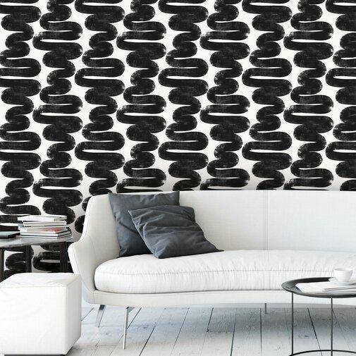 """Jalen Berk Wiggle Room 33' L x 20.5"""" W Wallpaper Roll"""