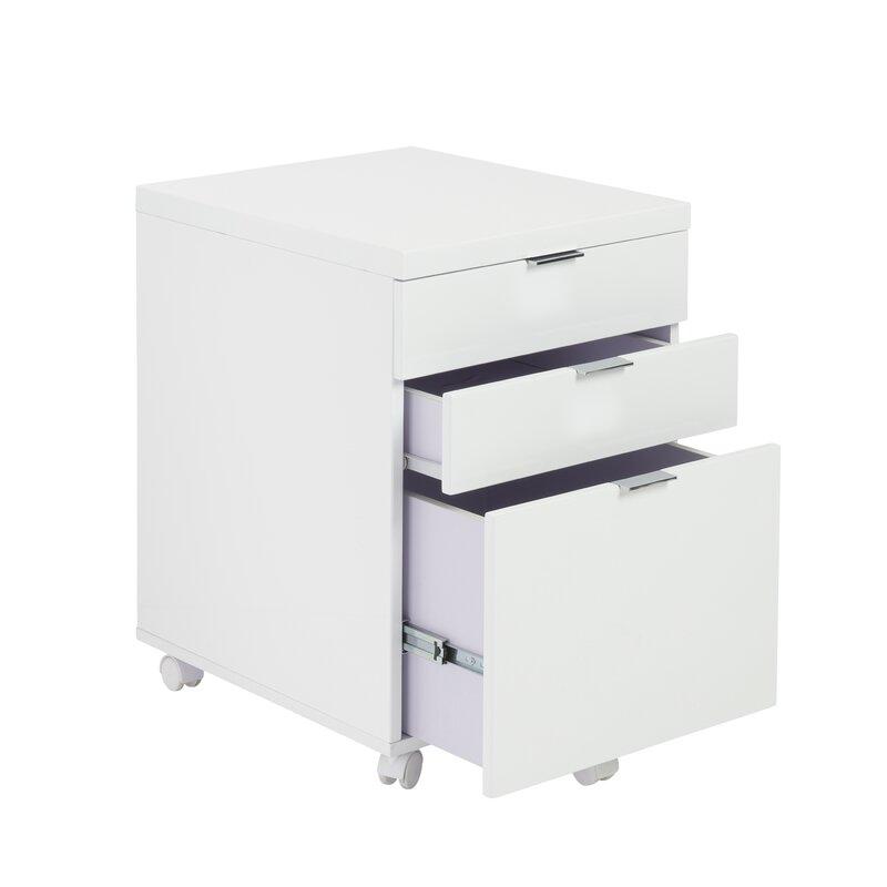 Zolan 3-Drawer Mobile Vertical Filing Cabinet