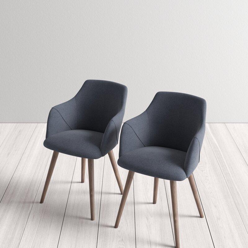 Creggan Upholstered Arm Chair (set of 2)