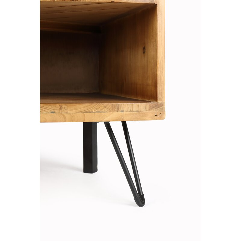 """Laurine Solid Wood Corner TV Stand for TVs up to 43"""""""