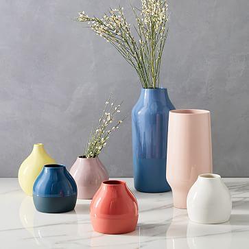 Bright Ceramicist Vase, Short Neck, Horseradish