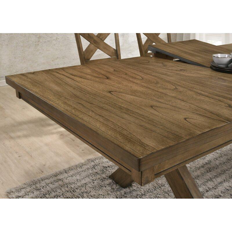 Poe Cross-buck Extendable Dining Table