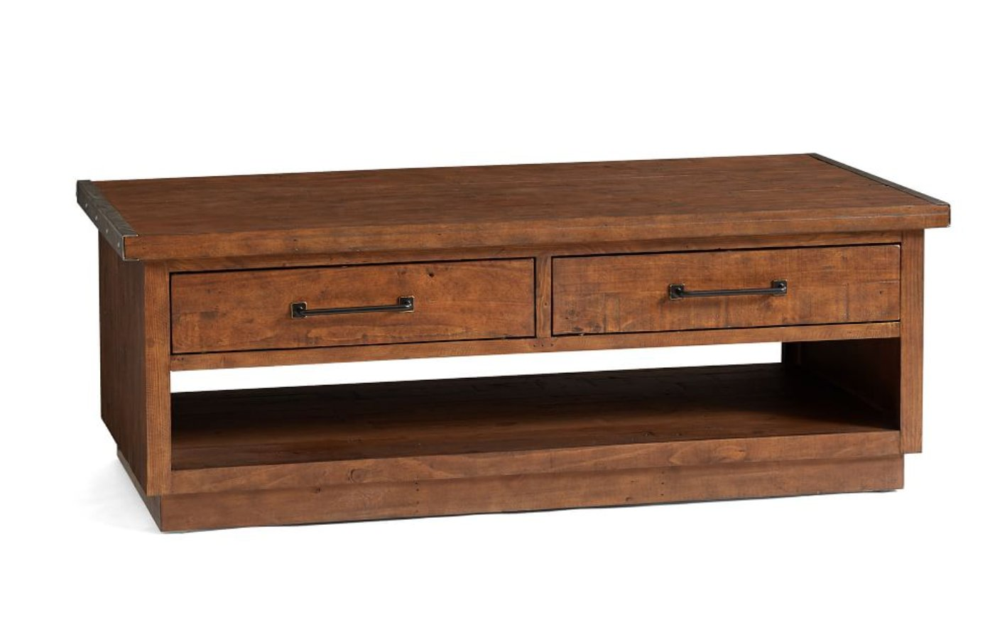 "Novato Reclaimed Wood Rectangular 54"" Coffee Table, Light Carbon"