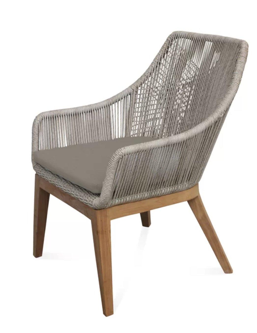 Judith Teak Patio Chair with Cushion