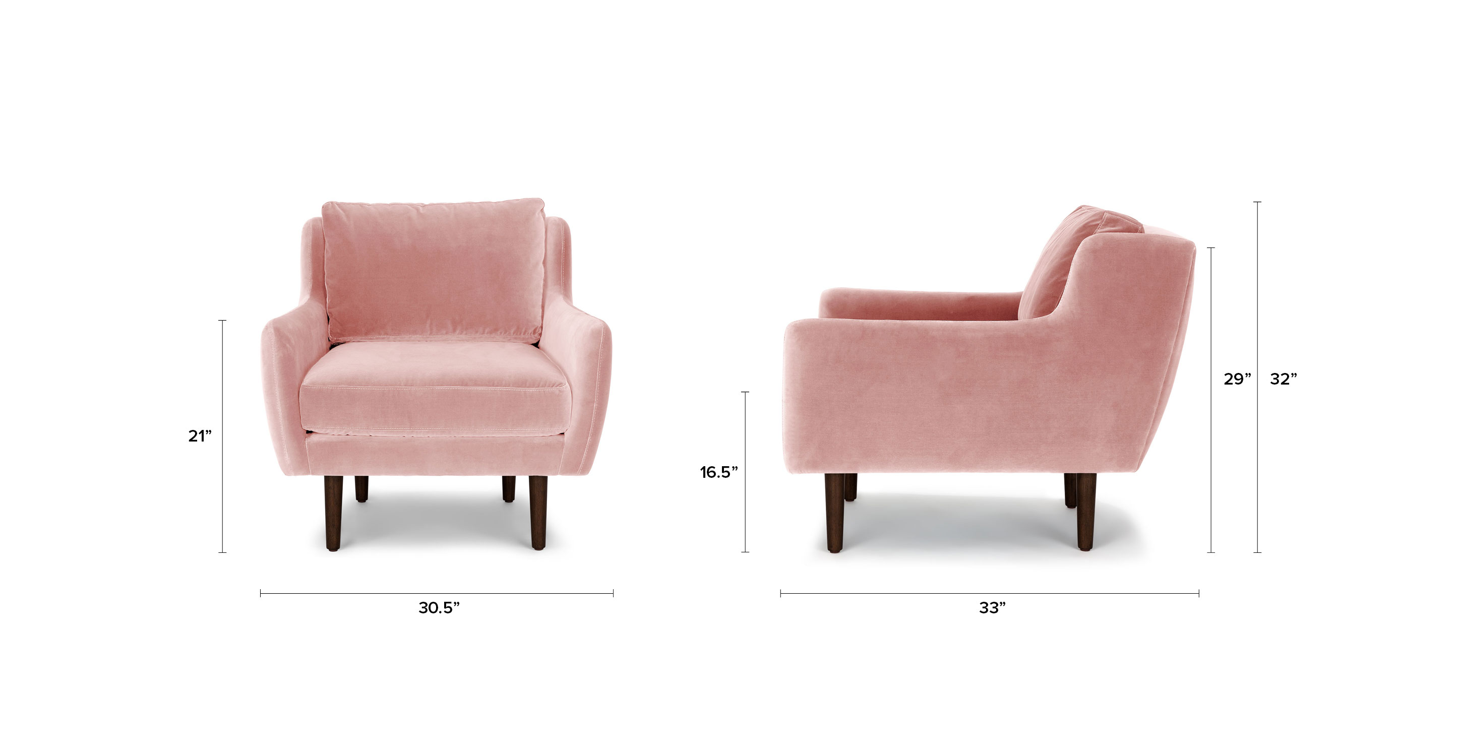 Matrix Blush Pink Chair