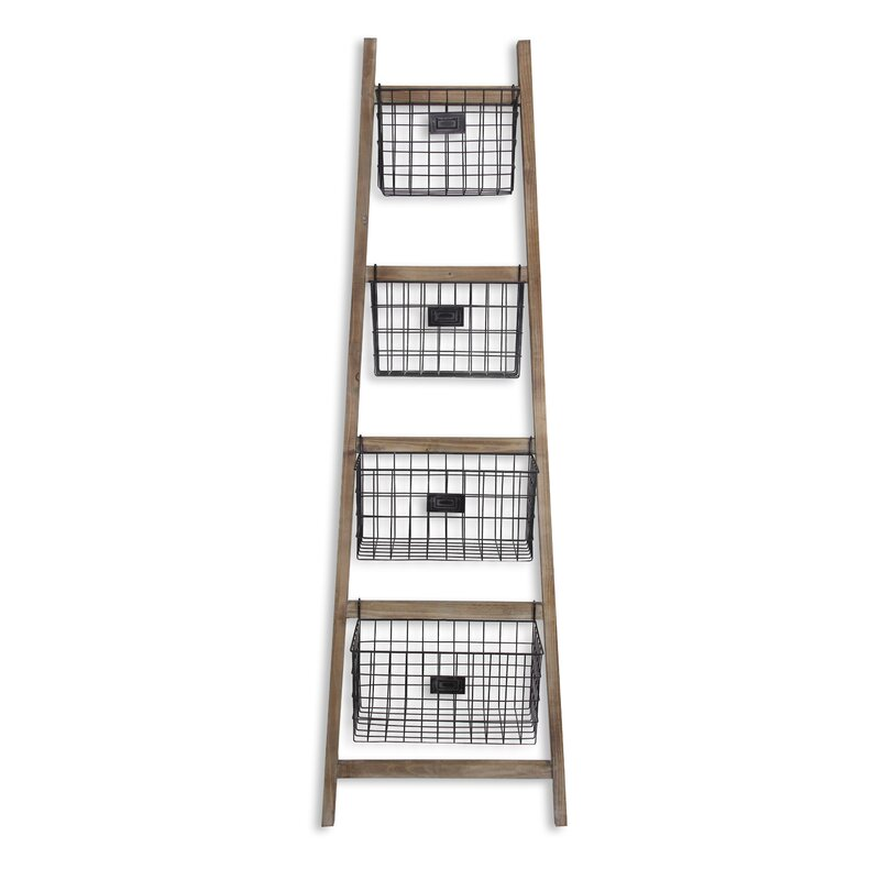 Vertical Wooden 6 ft Blanket Ladder