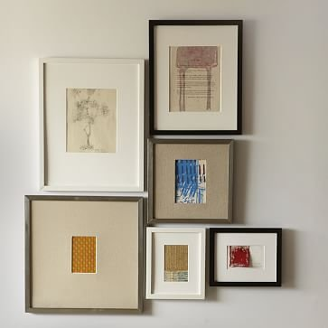 """Gallery Frames, Set of 4, 13""""x13"""", Black Lacquer"""