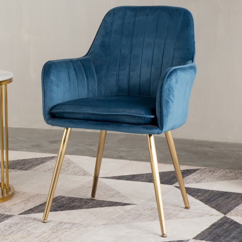 Galen Upholstered Dining Chair, Blue