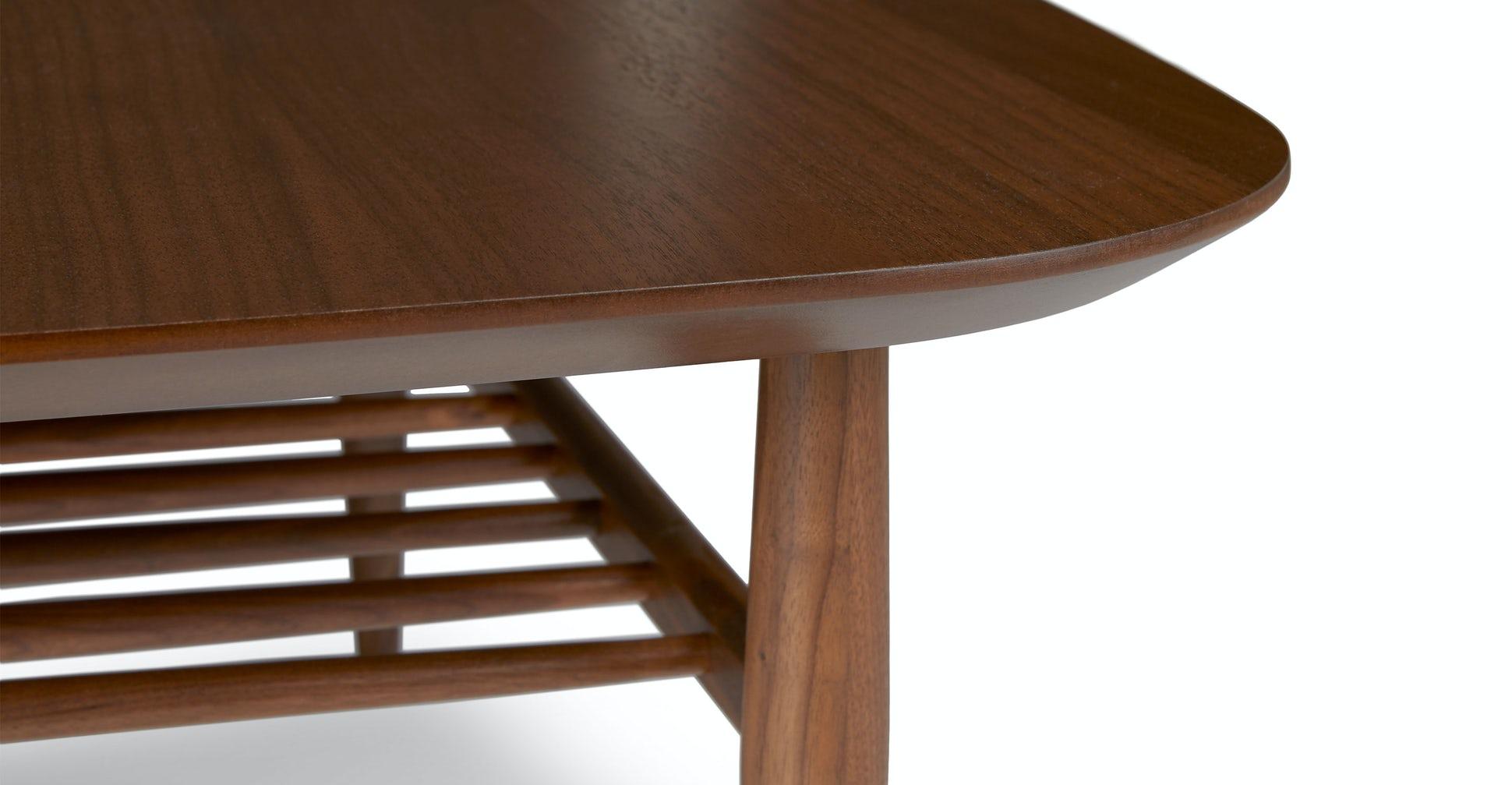 Lenia Walnut Square Coffee Table