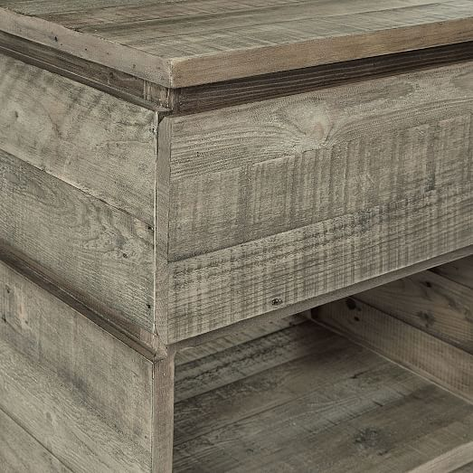 Emmerson(R) Modern Reclaimed Wood Nightstand, Stone Gray