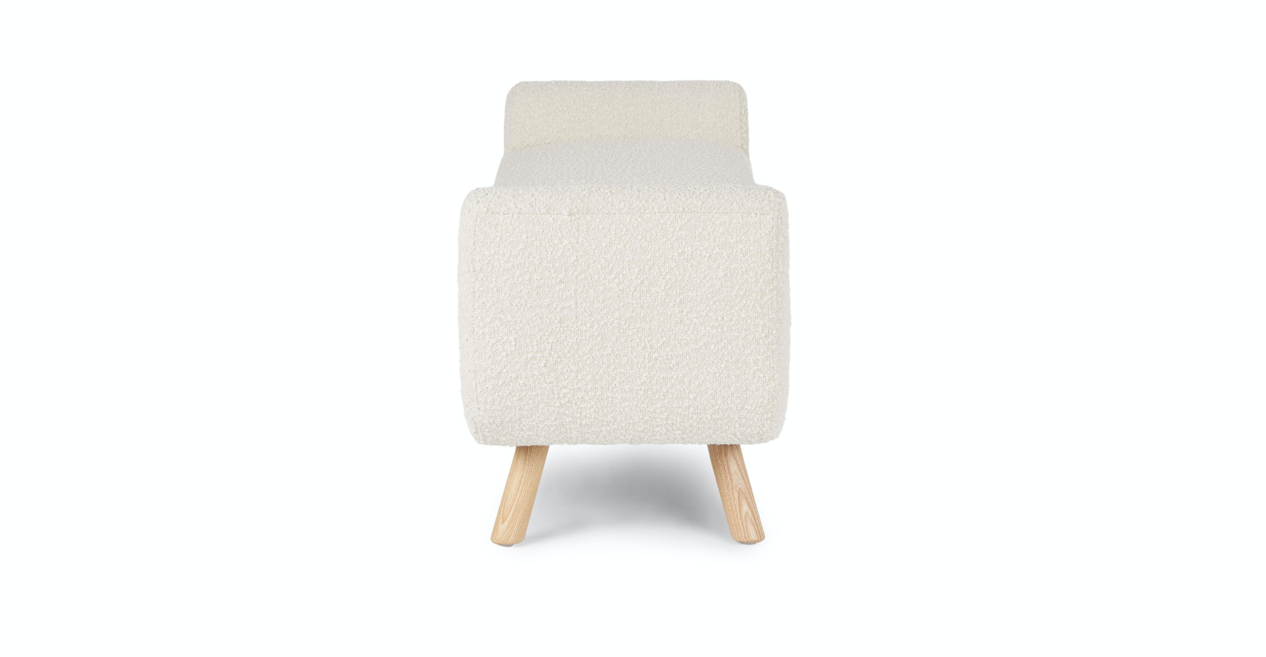 Gabriola Ivory Boucle Bench RESTOCK Mid May 2021