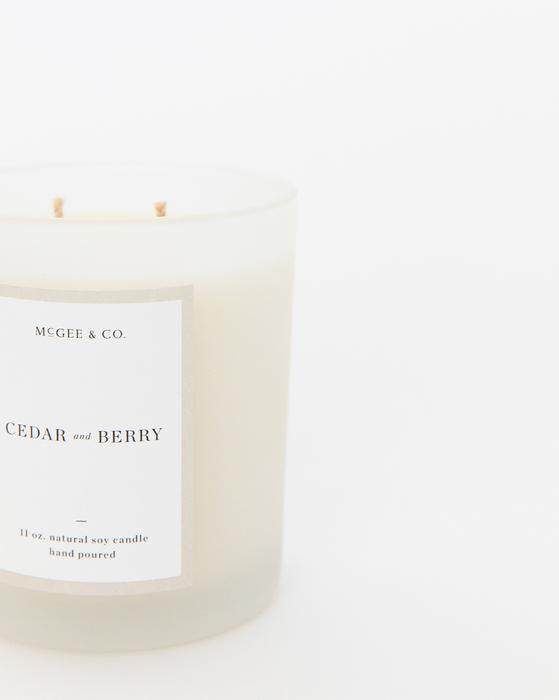 Cedar + Berry Candle - 11oz