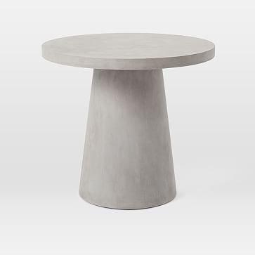 Outdoor Pedestal Bistro Table, Gray