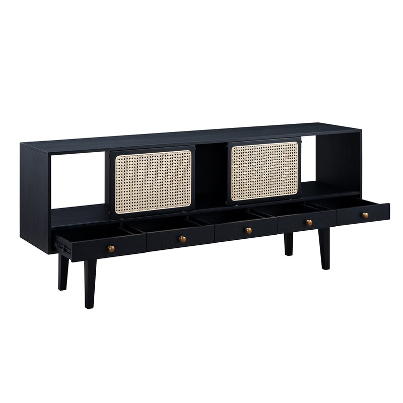 Simeon Cabinet/Enclosed storage TV Stand for TVs up to 70 inches