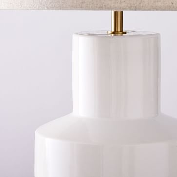 Modern Totem Table Lamp, Medium, Ivory-Individual