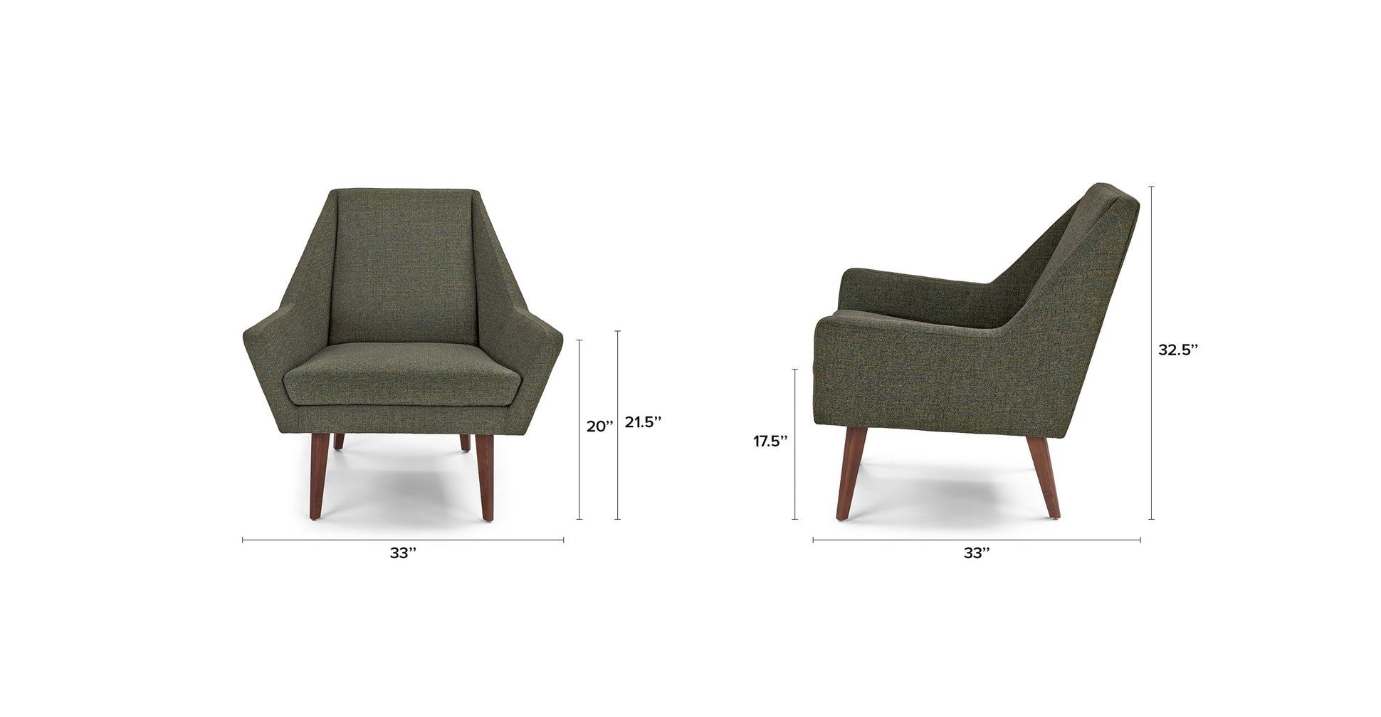 Angle Hemlock Green Chair