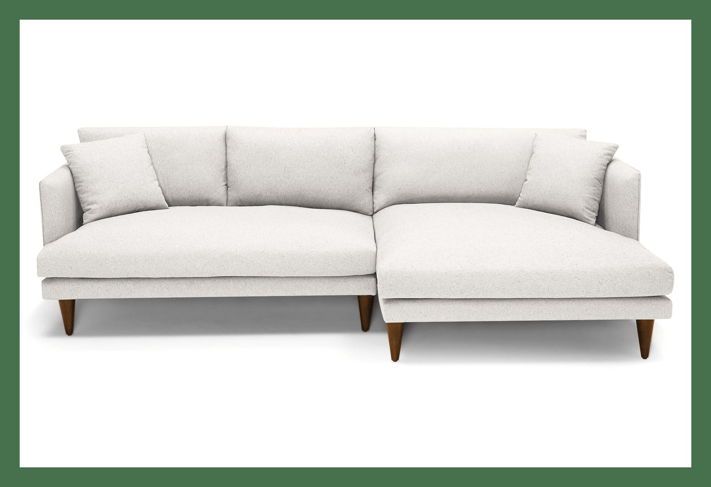 Lewis Mid Century Modern Sectional - Pet Friendly- left