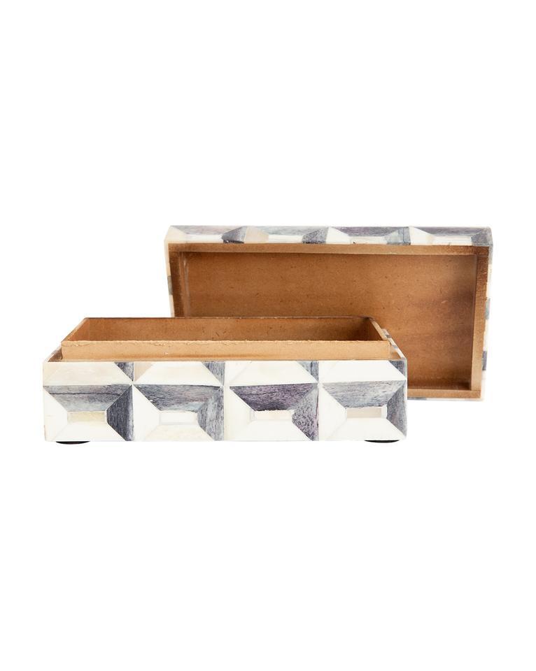 GRAY GEO BOX - SMALL
