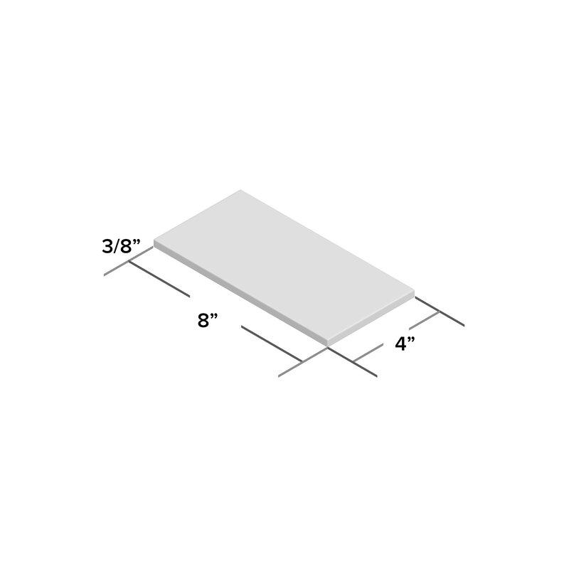 "Casden 4"" x 8"" Ceramic Subway Tile-per box"