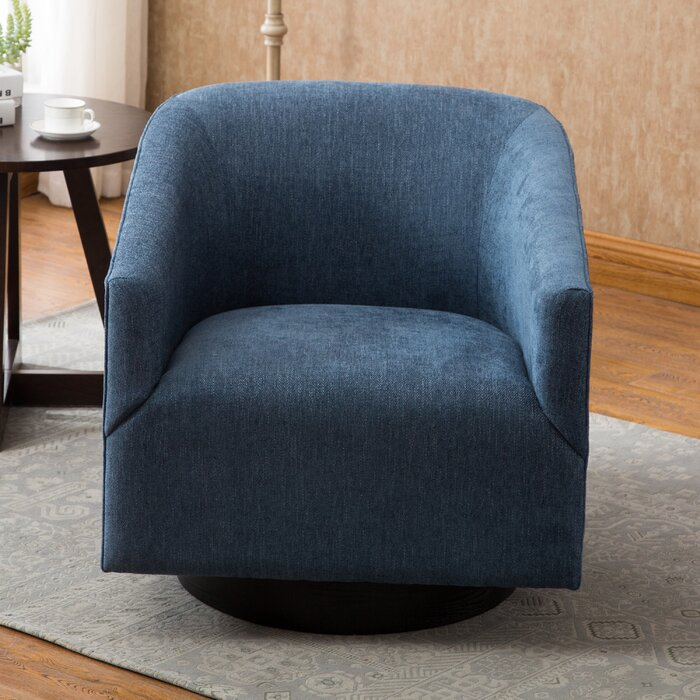 "Kylie Swivel 22.75"" Barrel Chair"