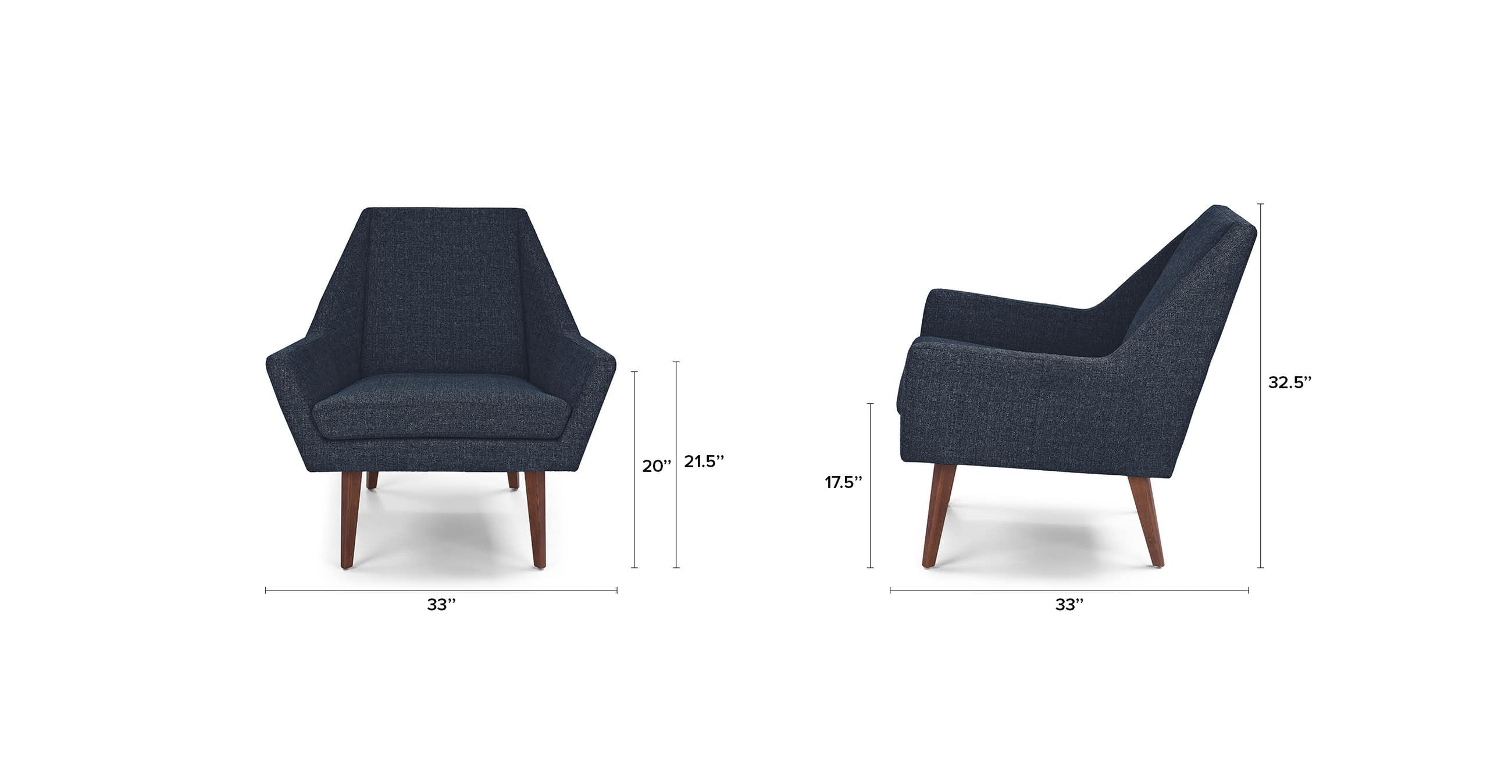 Angle Denim Blue Chair
