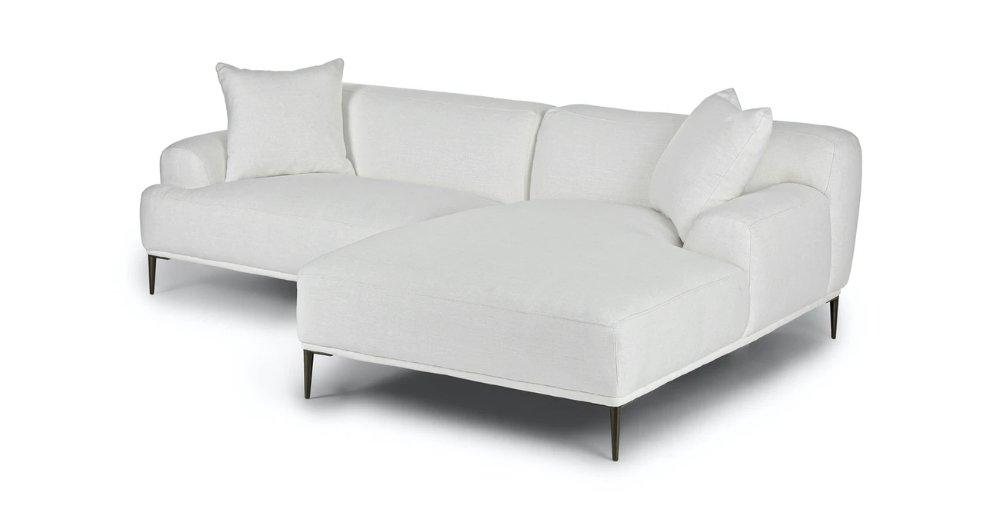 Abisko Quartz White Right Sectional