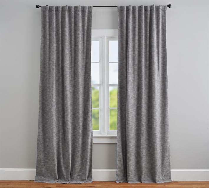 "Seaton Textured Blackout Curtain, 84"", Gray"