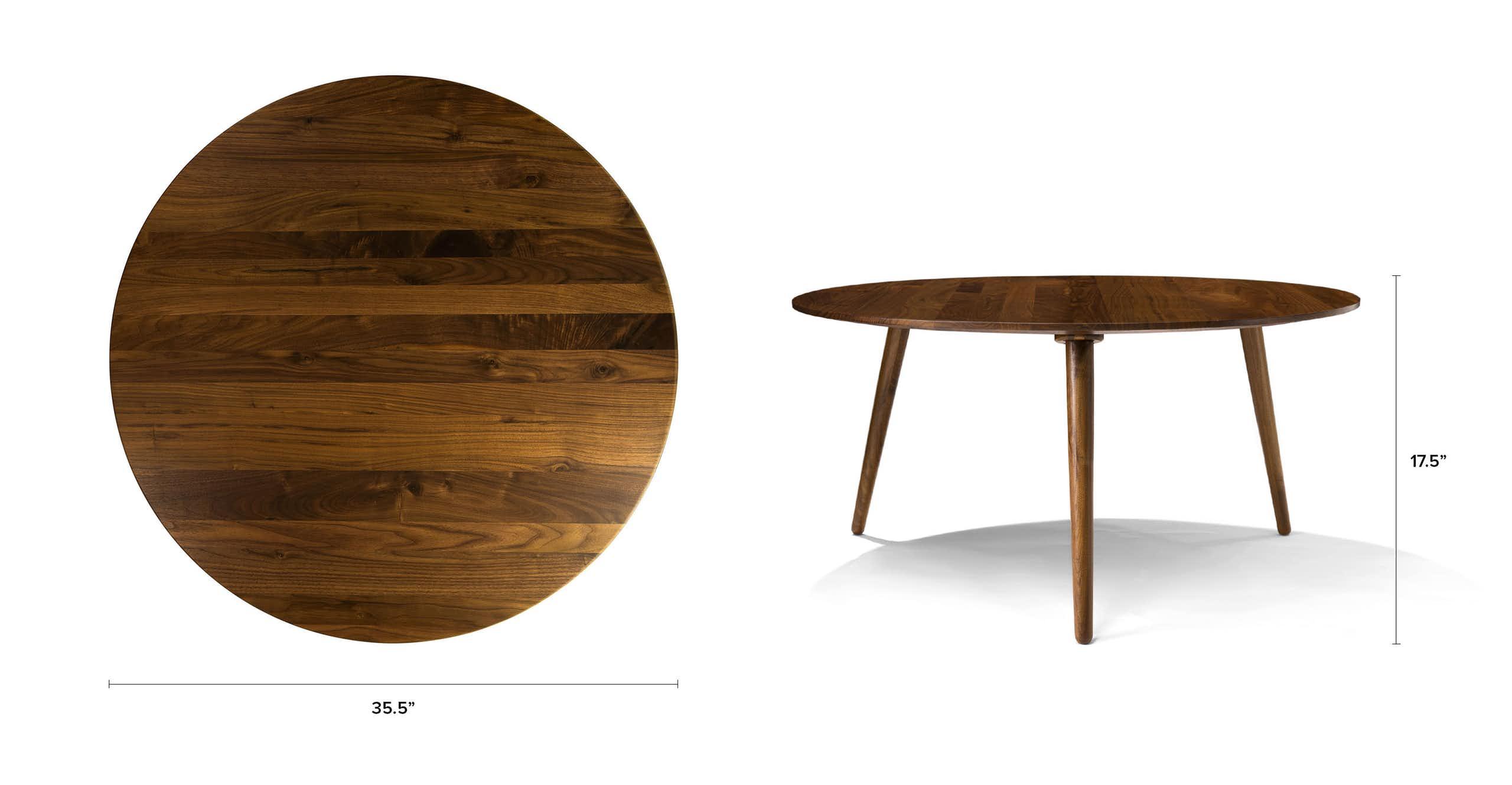Amoeba Wild Walnut Coffee Table