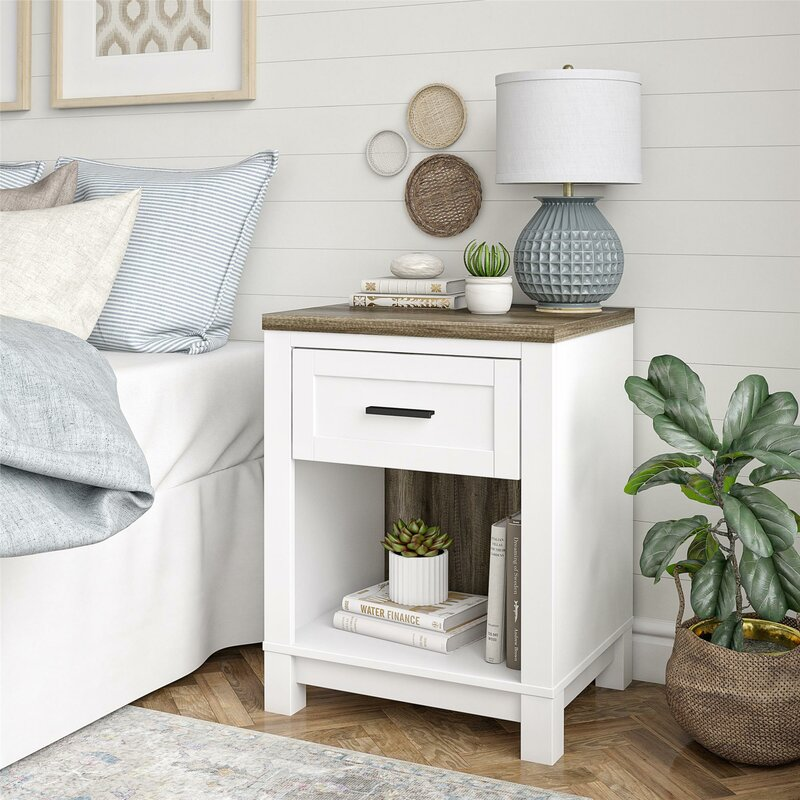 Marcos 1 Drawer Nightstand