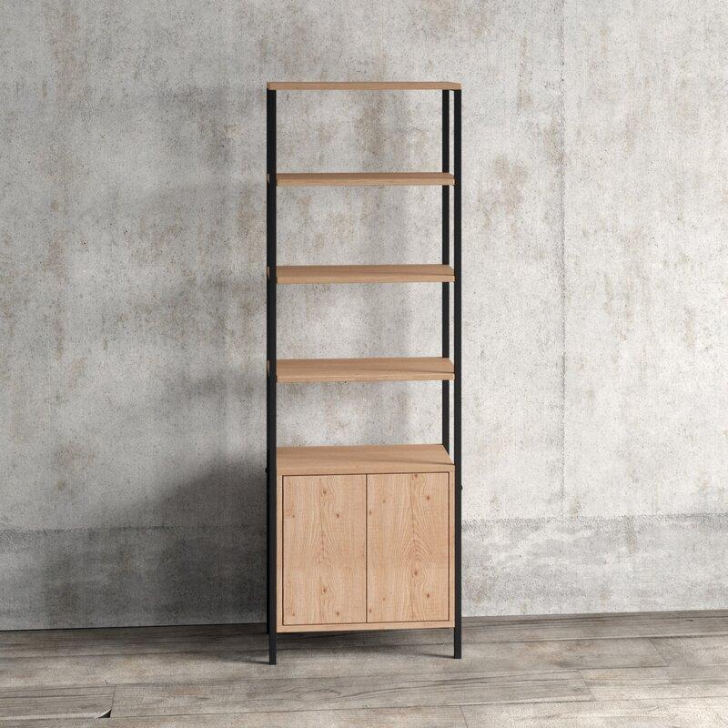 Blonde Etagere Bookcase