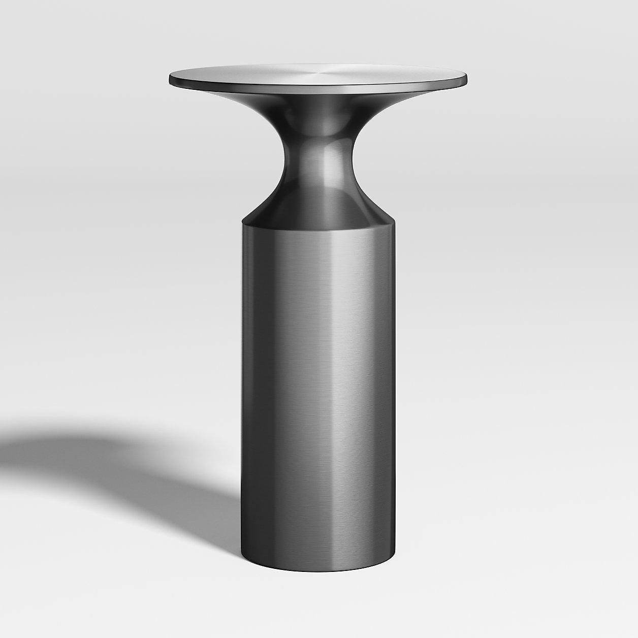Valter Gunmetal Drink Table