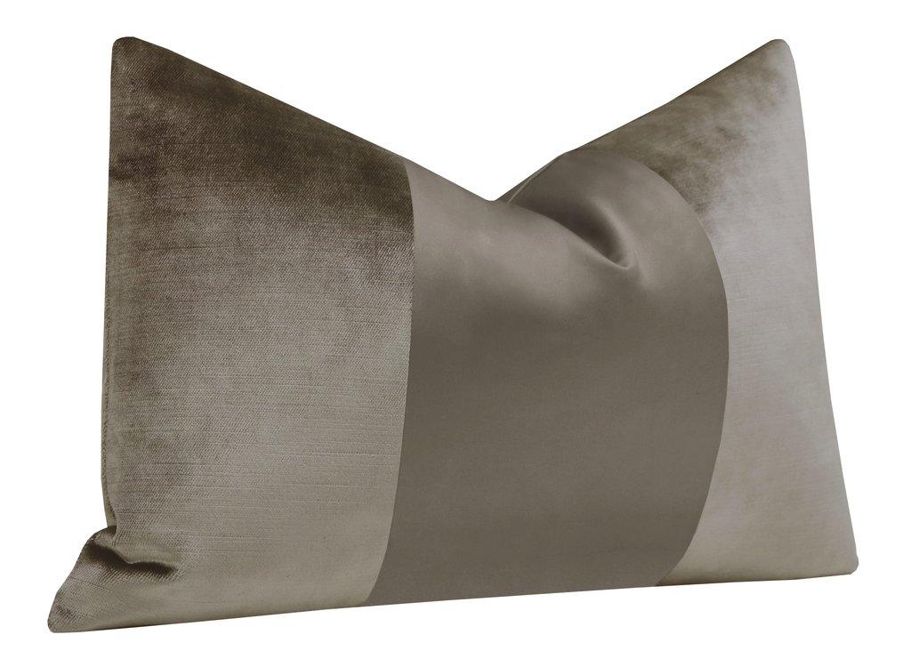 "The Little Lumbar :: MONOCHROMATIC Faux Silk Velvet // Quartz - 12"" X 18"""