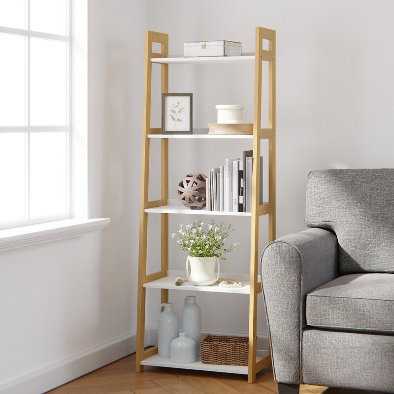 Makayla 67'' H x 23.5'' W Ladder Bookcase