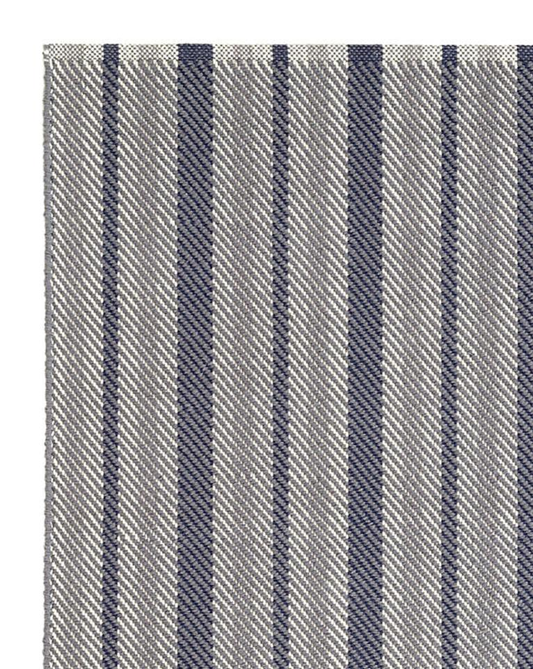 HERRINGBONE STRIPE WOVEN COTTON RUG, 4' x 6'