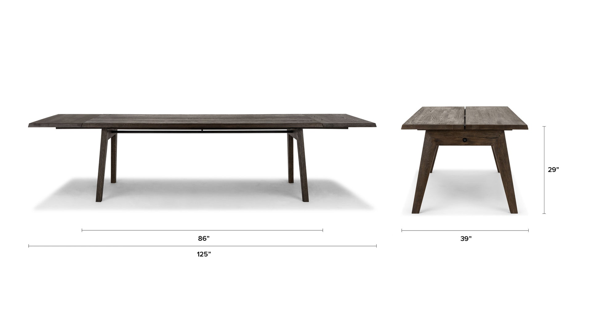Madera Smoke Dining Table, Extendable